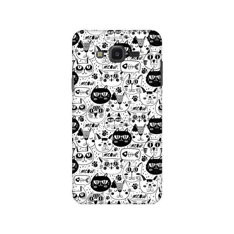 Cute Cats Pattern Samsung J7 NXT Cover