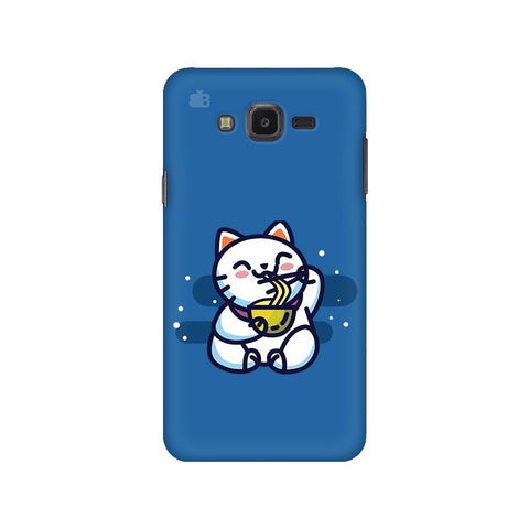 KItty eating Noodles Samsung J7 NXT Cover