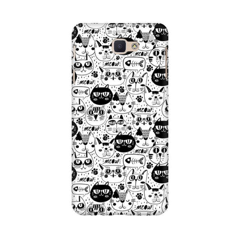 Cute Cats Pattern Samsung J7 Prime Cover