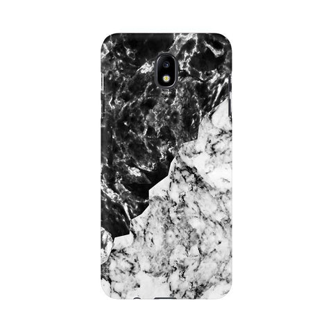 Black White Marble Samsung J7 Pro Cover