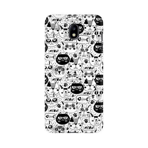 Cute Cats Pattern Samsung J7 Pro Cover