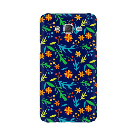 Vibrant Floral Pattern Samsung J7 Cover