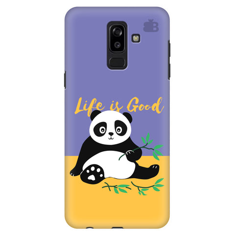 Panda Life is Good Samsung J8 Plus Cover