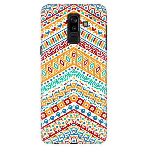 Wavy Ethnic Art Samsung J8 Plus Cover