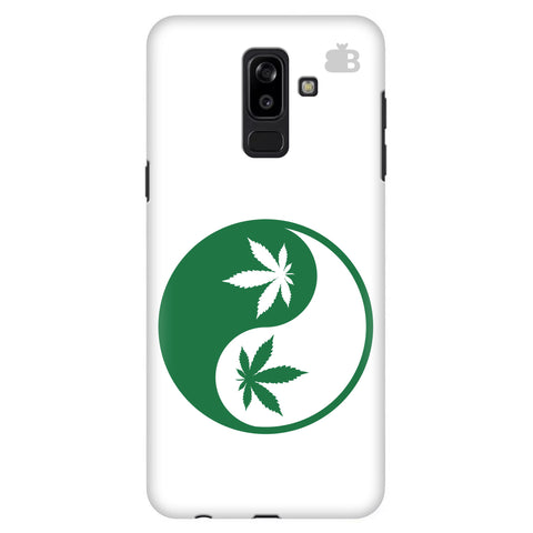 Weed Yin Yang Samsung J8 Plus Cover