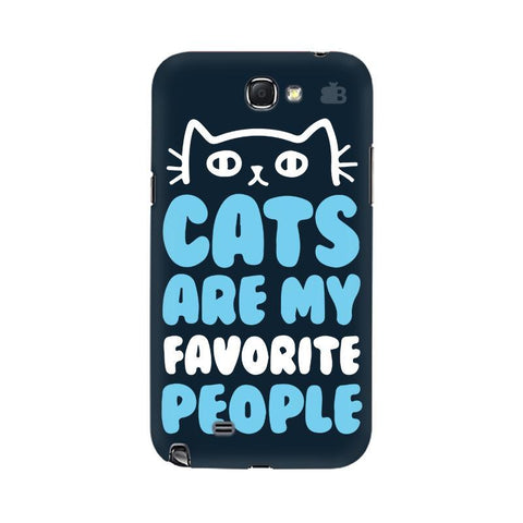 Cats favorite People Samsung Note 2 Cover
