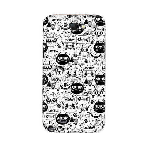 Cute Cats Pattern Samsung Note 2 Cover