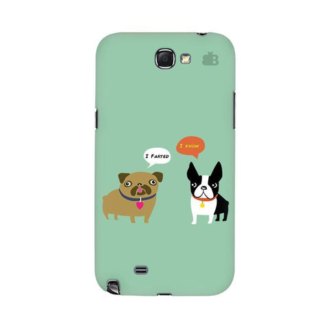 Cute Dog Buddies Samsung Note 2 Cover