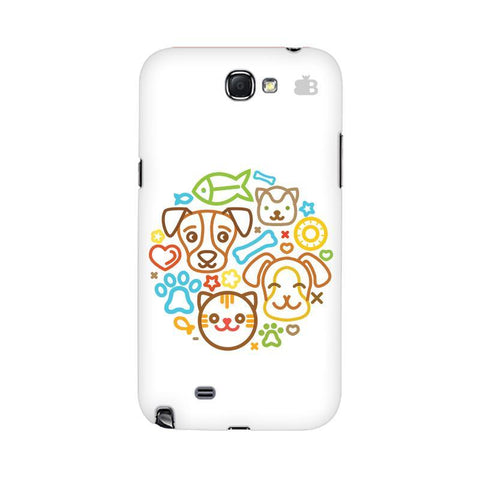 Cute Pets Samsung Note 2 Cover