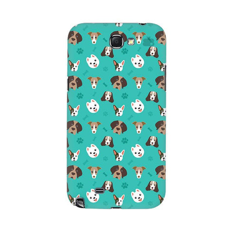 Doggie Pattern Samsung Note 2 Cover
