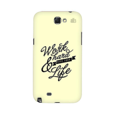 Work Hard Samsung Note 2 Cover