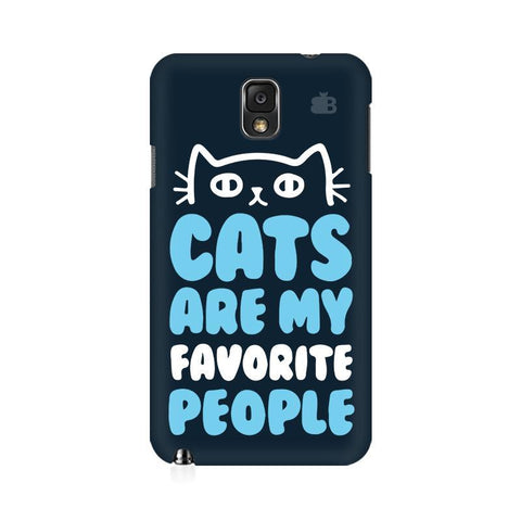 Cats favorite People Samsung Note 3 Cover