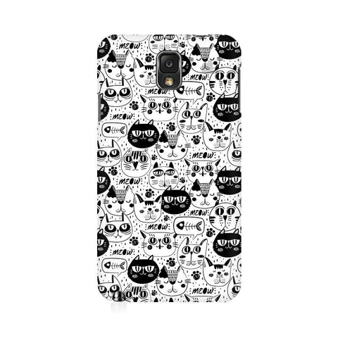 Cute Cats Pattern Samsung Note 3 Cover