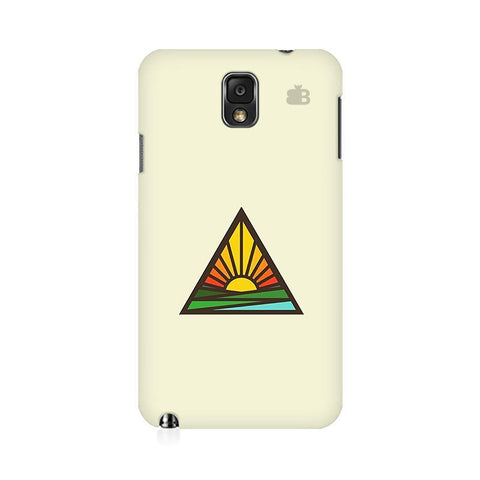 Triangular Sun Samsung Note 3 Cover