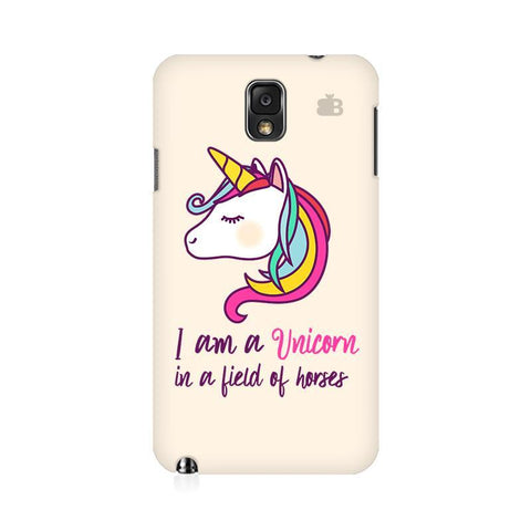 Unicorn in Horses Samsung Note 3 Cover