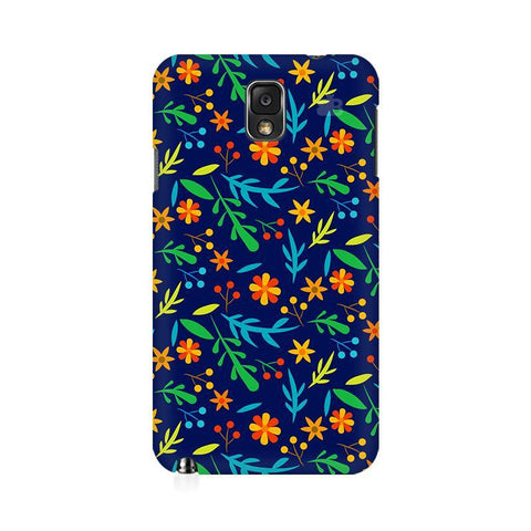 Vibrant Floral Pattern Samsung Note 3 Cover