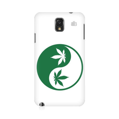 Weed Yin Yang Samsung Note 3 Cover