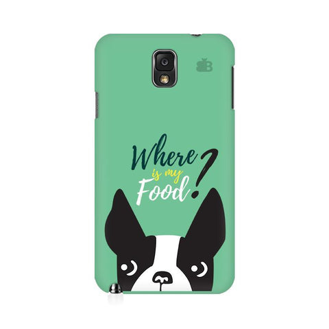 Where is my Food Samsung Note 3 Cover