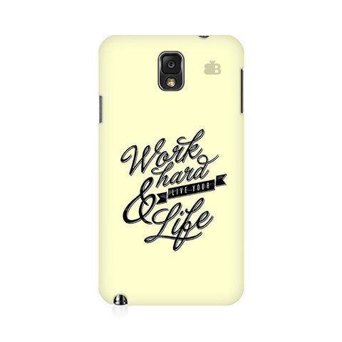 Work Hard Samsung Note 3 Cover