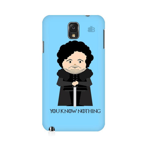 You Know Nothing Samsung Note 3 Cover