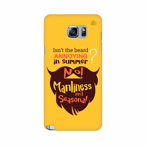 Beard Brown Samsung Note 5 Cover