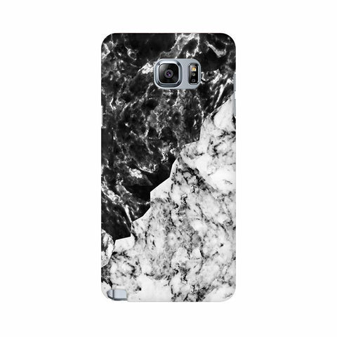 Black White Marble Samsung Note 5 Cover