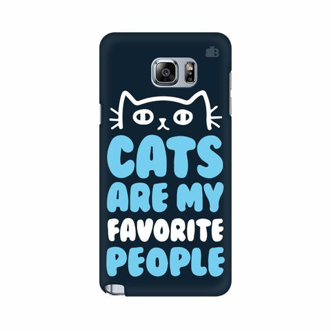 Cats favorite People Samsung Note 5 Cover