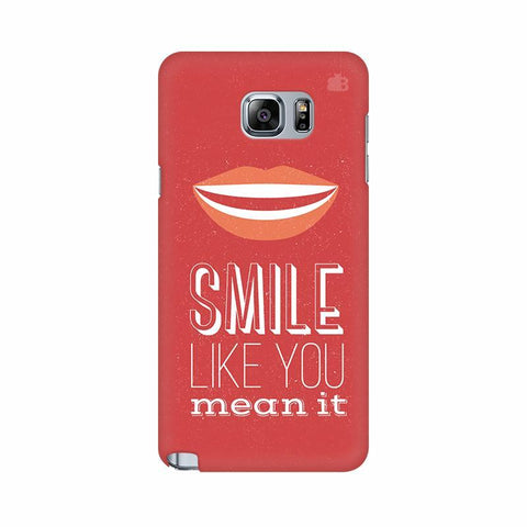 Smile Samsung Note 5 Cover