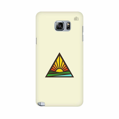 Triangular Sun Samsung Note 5 Cover