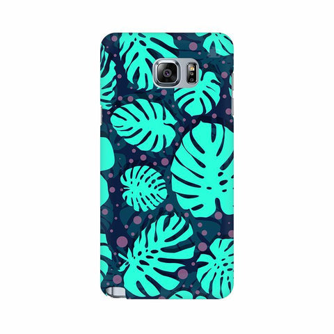 Tropical Leaves Pattern Samsung Note 5 Cover