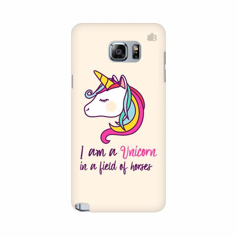 Unicorn in Horses Samsung Note 5 Cover