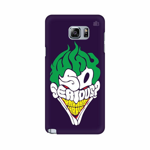Why So Serious Samsung Note 5 Cover