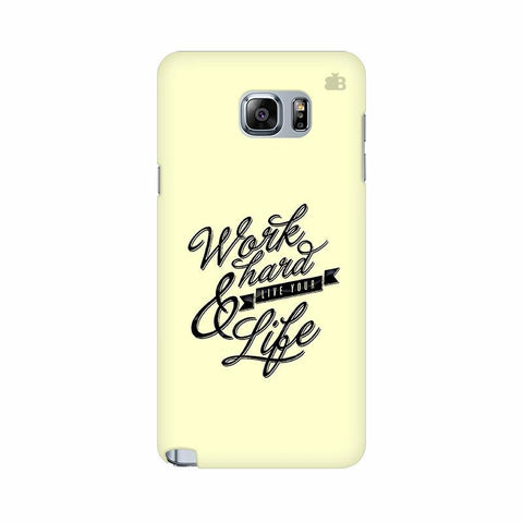 Work Hard Samsung Note 5 Cover