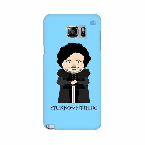 You Know Nothing Samsung Note 5 Cover