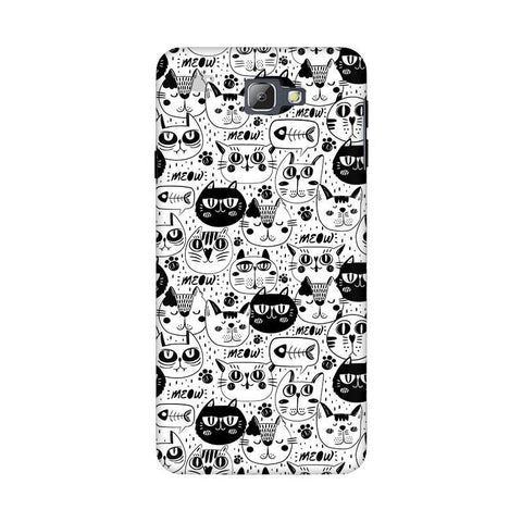 Cute Cats Pattern Samsung On 5 2016 Cover