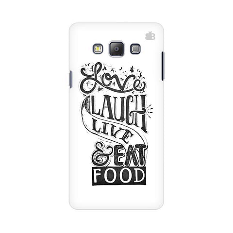 Live Laugh & Eat Food Samsung On 5 Pro Cover
