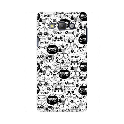 Cute Cats Pattern Samsung On 5 Cover