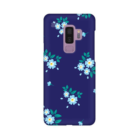 Blue Floral Pattern Samsung S9 Plus Cover