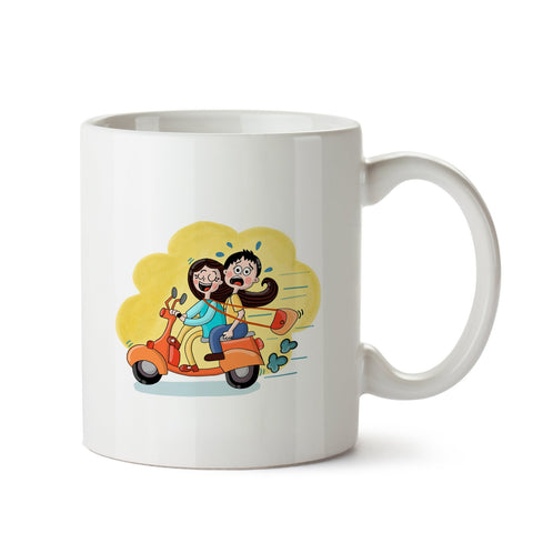 Sister Ride White Coffee Mug