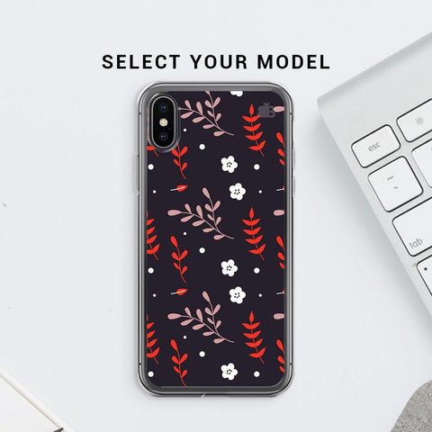 Autumn Floral Pattern Soft Phone Cover