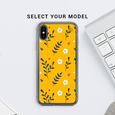 Summer Floral Pattern Soft Phone Cover
