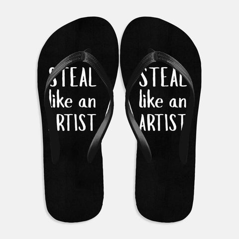 Steal like an Artist Flip Flops