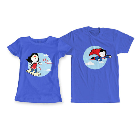 Superheroes Couple Tees