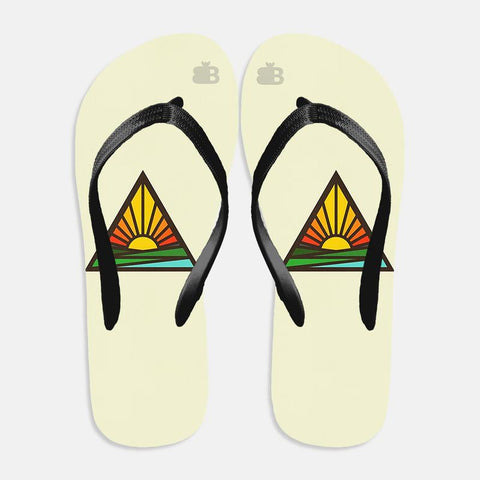 Triangular Sun Flip Flops