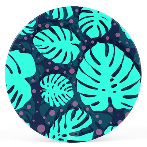 Tropical Leaves Pattern Pop Holder
