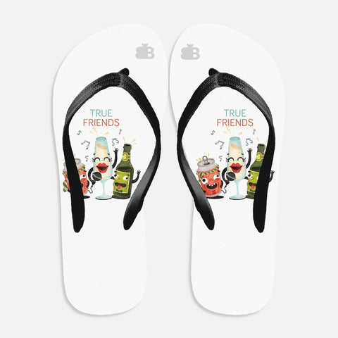 True Friends Flip Flops