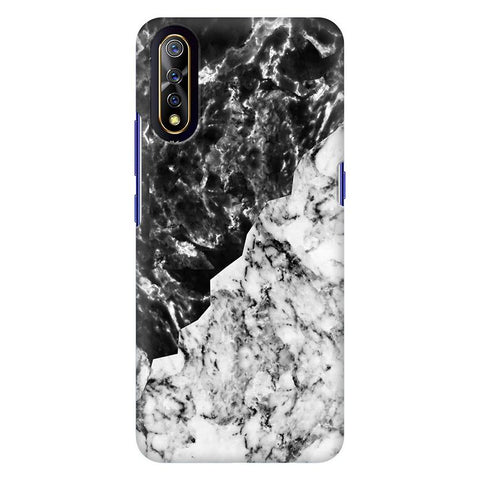 Black White Marble Vivo S1 Cover