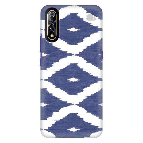 Blue Ikat Vivo S1 Cover