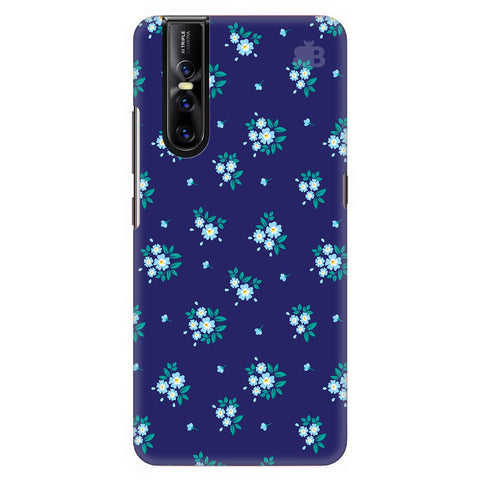 Blue Floral Pattern Vivo V15 Pro Cover