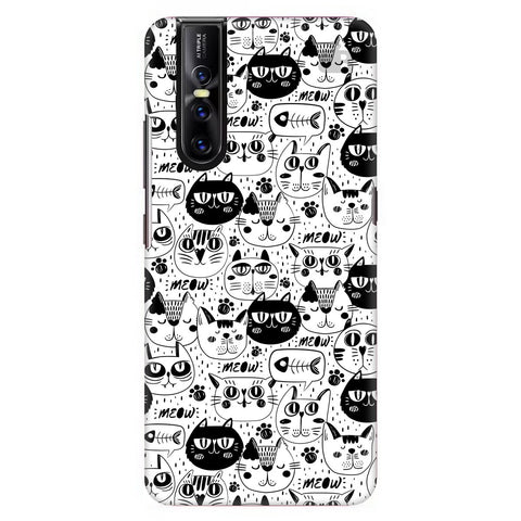 Cute Cats Pattern Vivo V15 Pro Cover